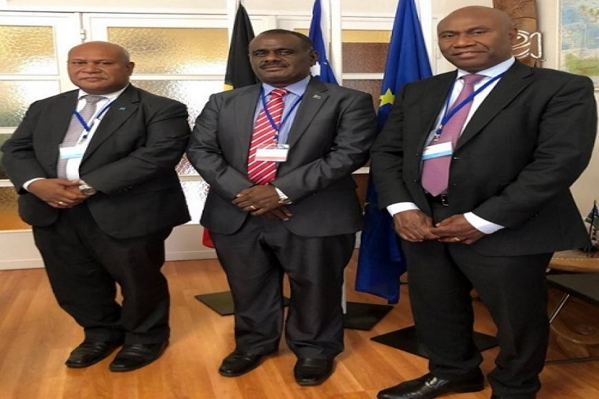 MFAET Minister Hon. Jeremiah Manele attends ACP-EU Joint Meetings in Brussels