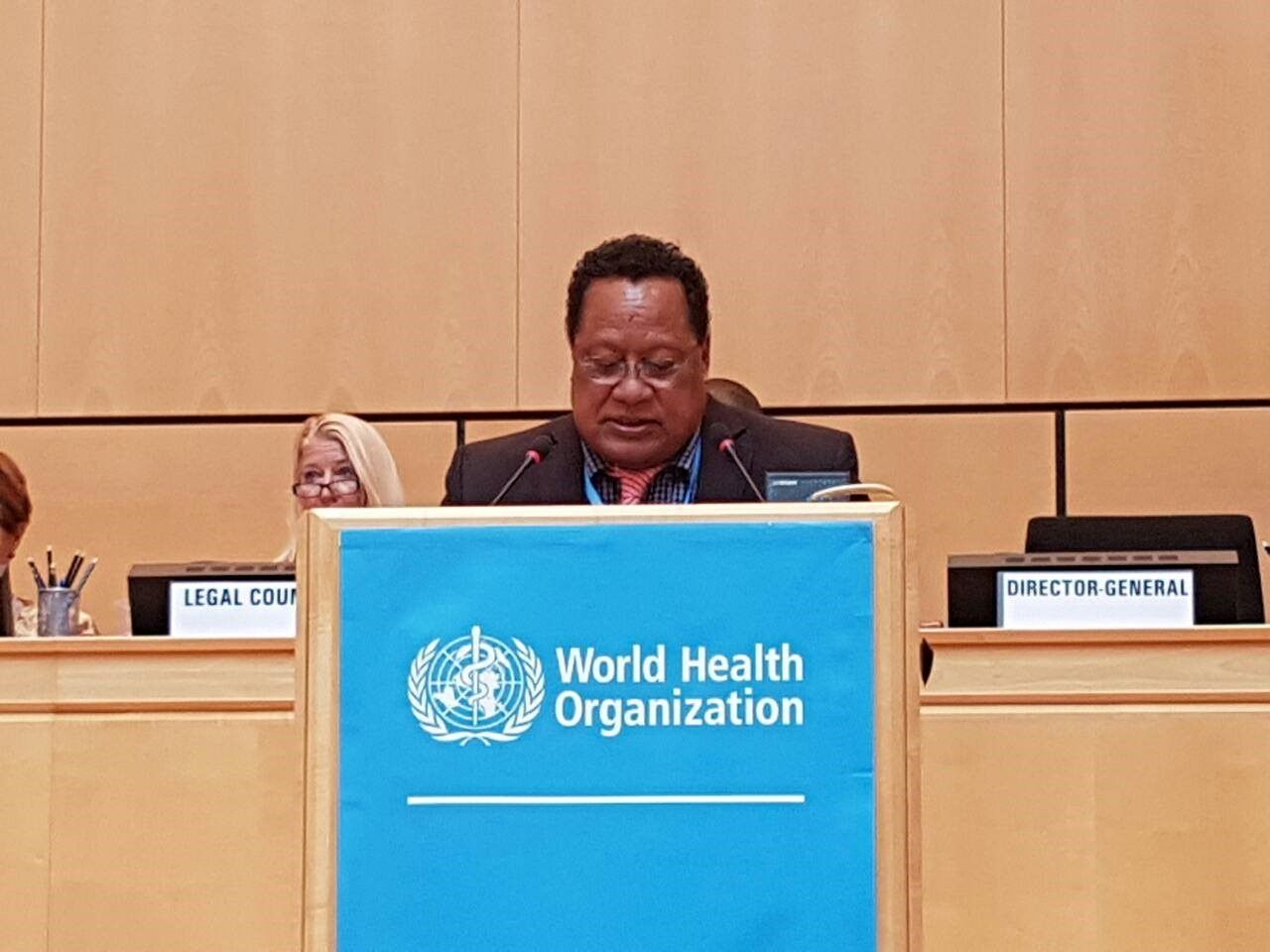 Solomon Islands Health Minister present a case for Taiwan inclusion in the World Health Assembly Meeting