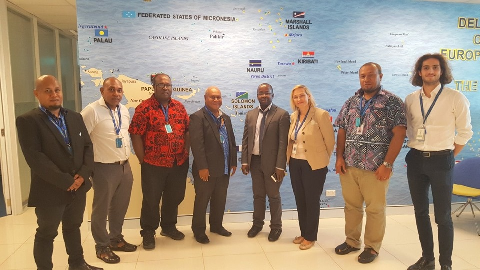 Solomon Islands and European Union Officials after their bilateral meeting on Tuesday.