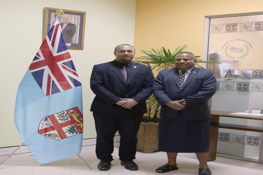 H.E Soakia pay courtesy call on Fiji Foreign Minister